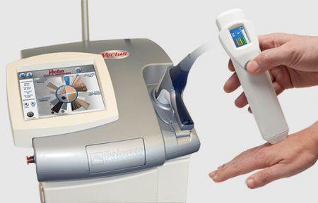 Laser Vectus i czytnik melaniny Skintel do depilacji laserowej